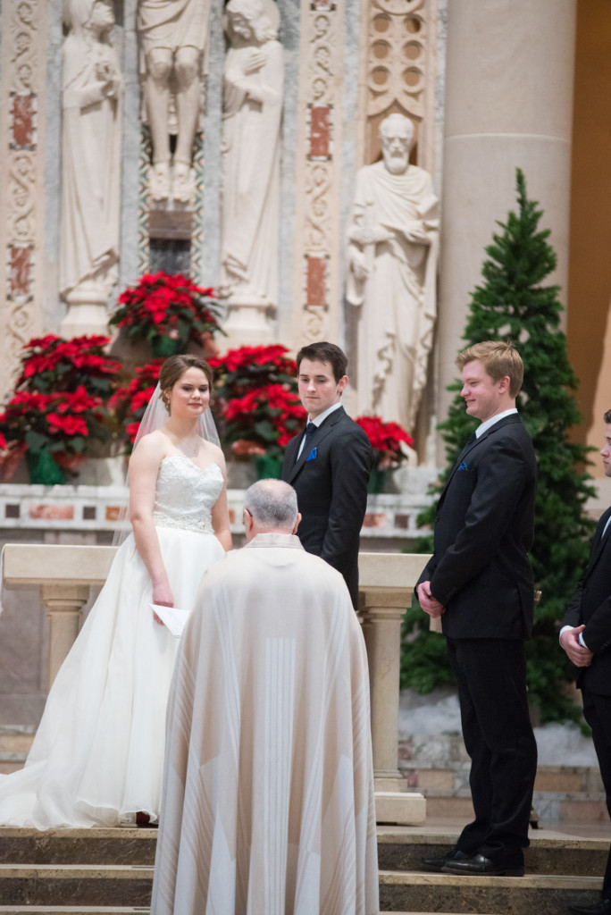 Christine and Ryan's winter wedding at St. Thomas More Church and Prestwick Golf Course