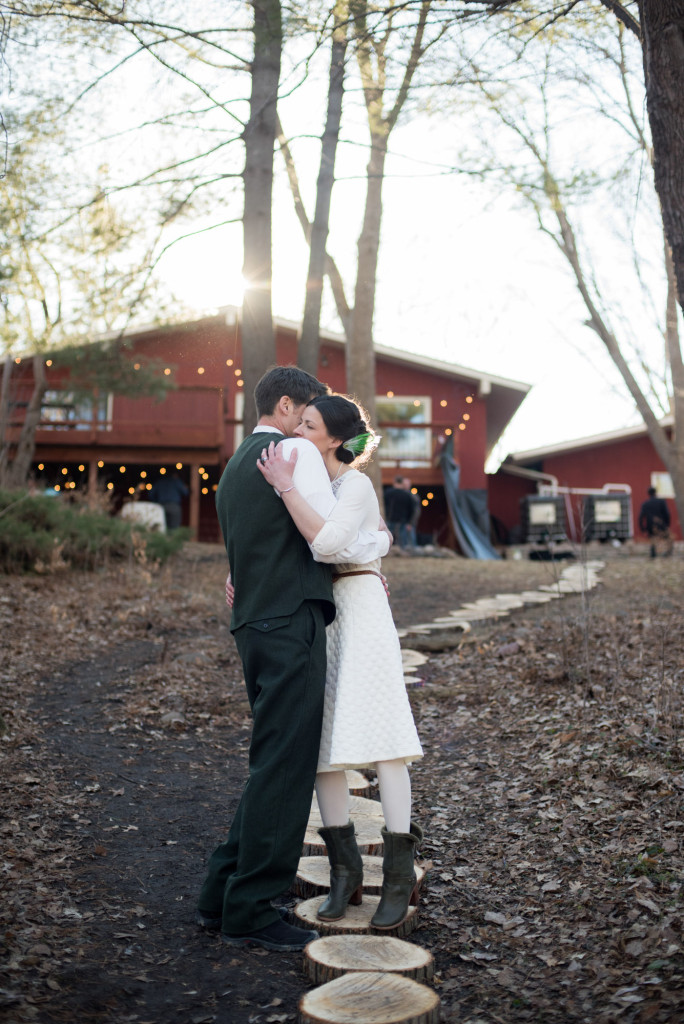 David and Mary's intimate winter Pi Day wedding