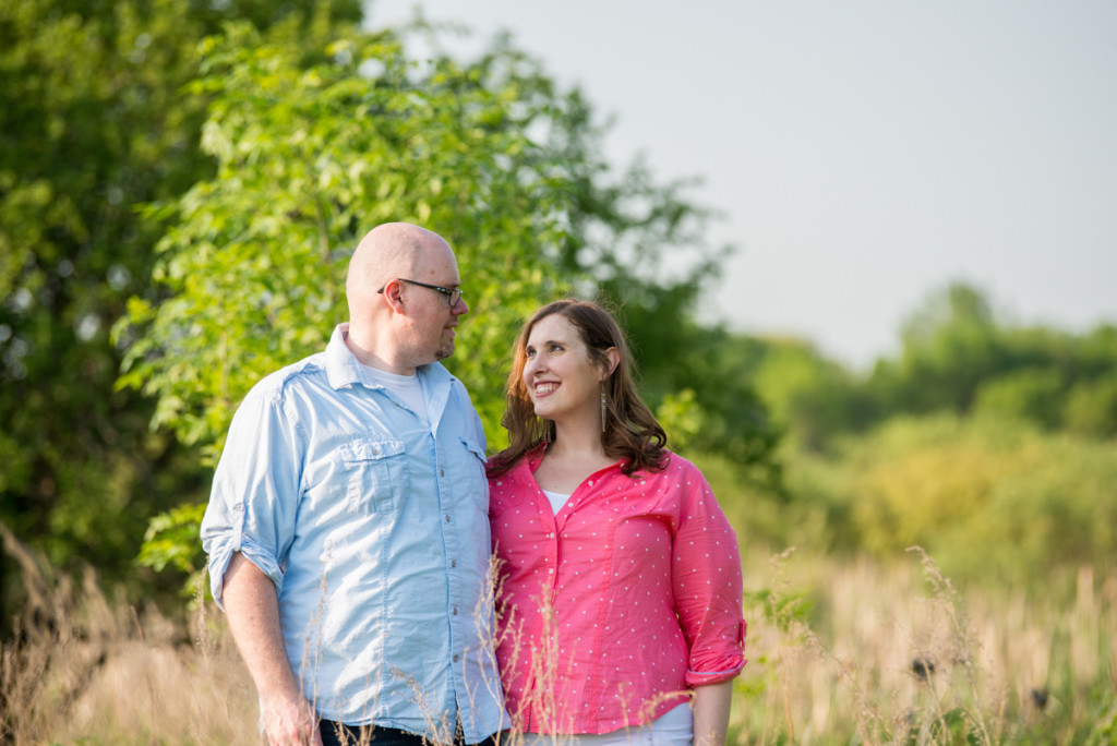 Lindsey and Chris's unicorn hunt engagement session in Medina, MN