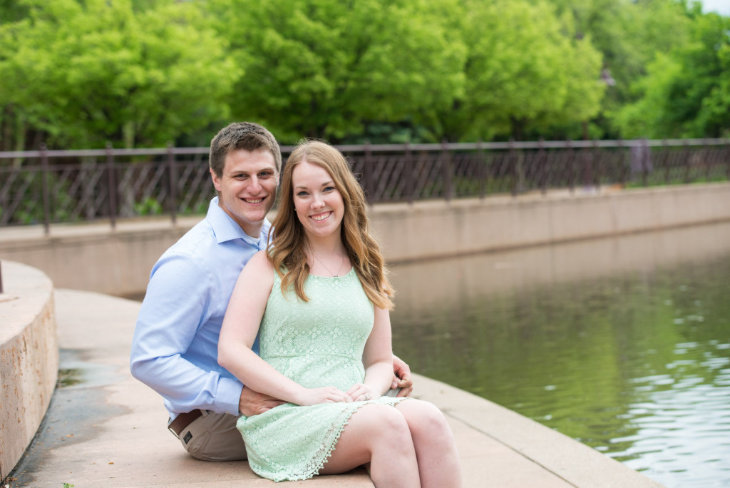 Amanda and Zach's summer engagement at Centennial Lakes Park