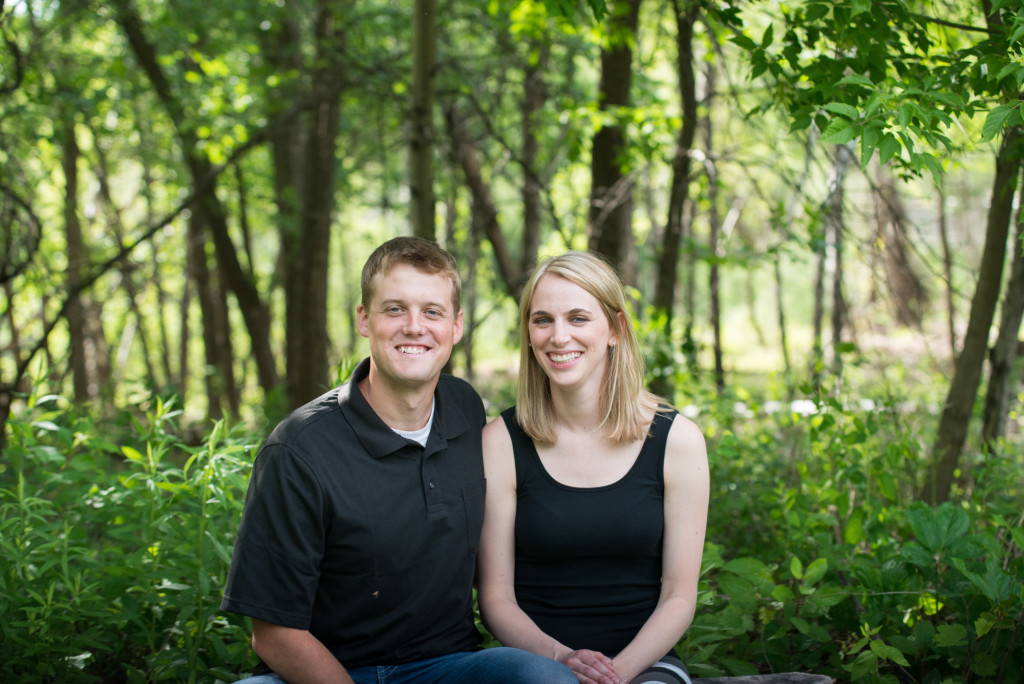 Carly and Todd's summer engagement at Springbrook Nature Center