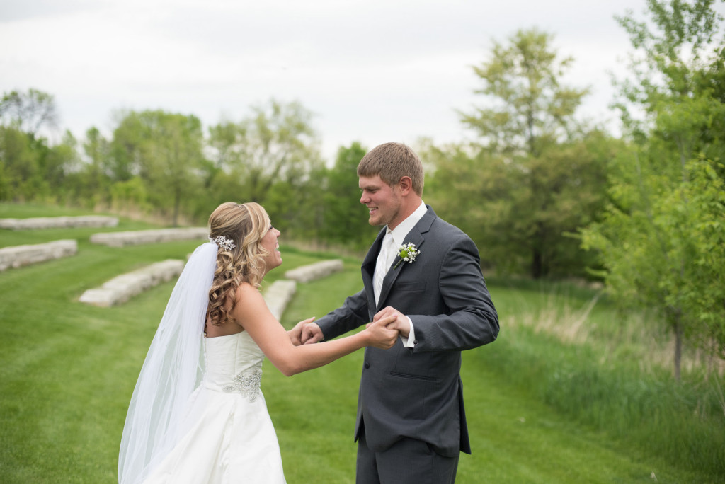 Danielle and Jared's spring wedding in Buffalo, MN