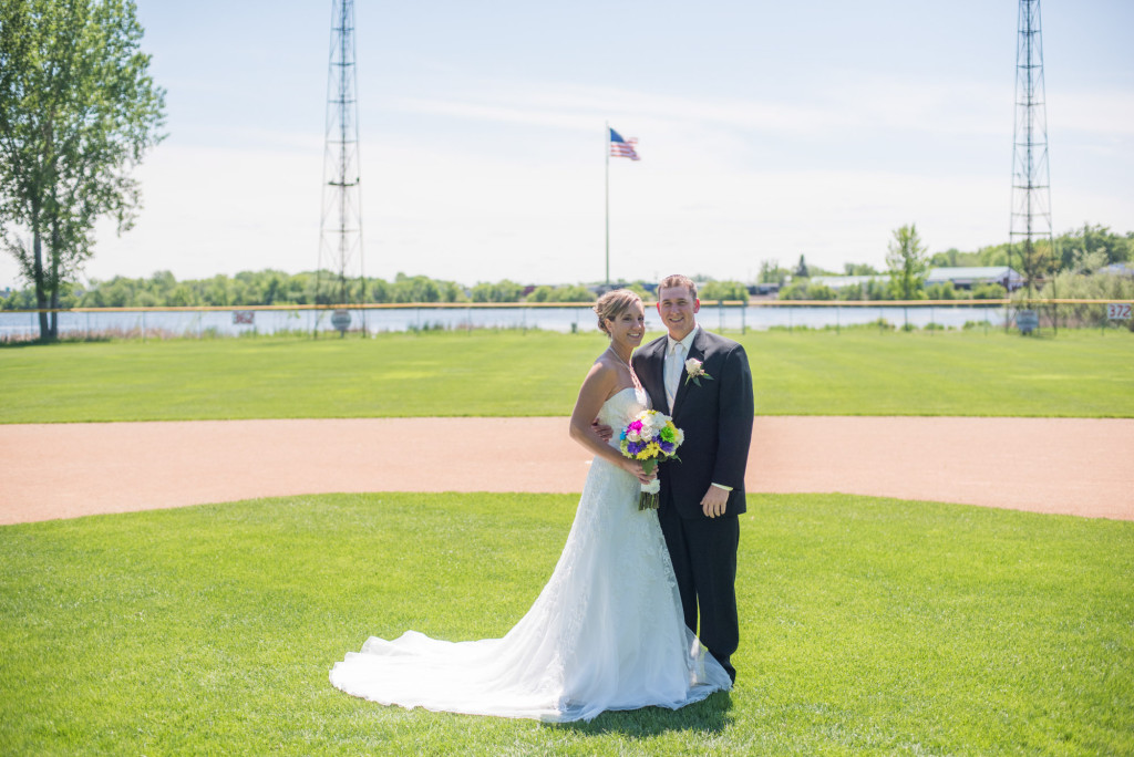 Rachael and Chris's summer baseball themed wedding in Waverly, MN