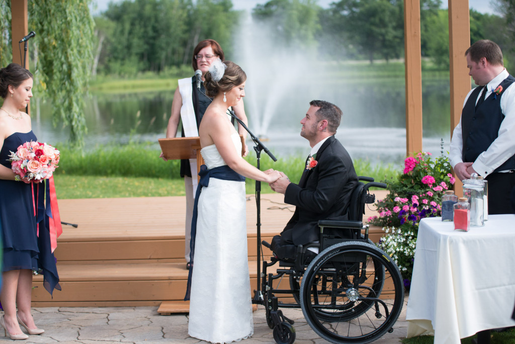 Kimberly and Kyle's summer wedding at Majestic Oaks in Andover, MN