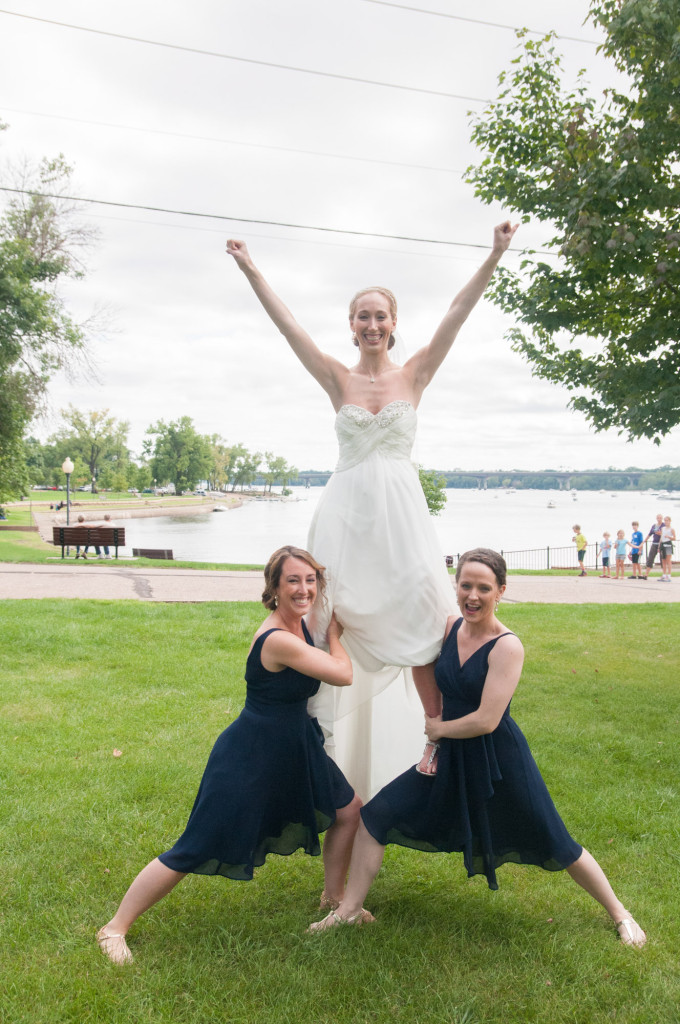 Kelly and Jeremy's summer wedding on the St. Croix river in Hudson, WI